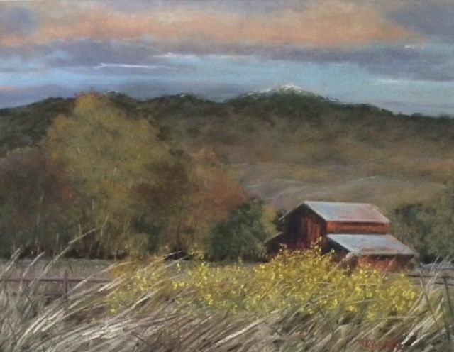 """The Vanishing Barn"" original fine art by Christina Karras"