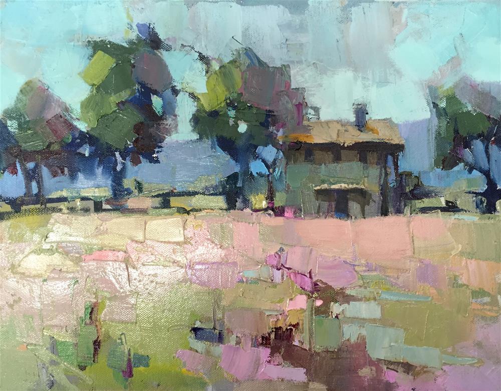 """""""Rose-colored Field"""" original fine art by Trisha Adams"""