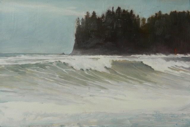 """""""Channel Marker  La Push , seascape. oil painting by robin Weiss"""" original fine art by Robin Weiss"""