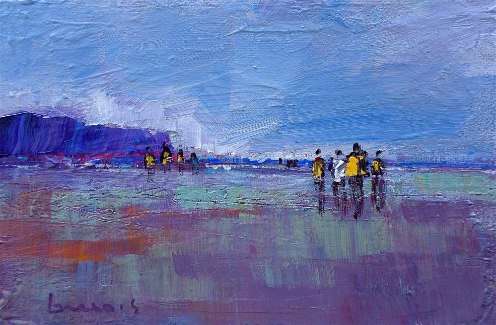 """On the beach"" original fine art by salvatore greco"