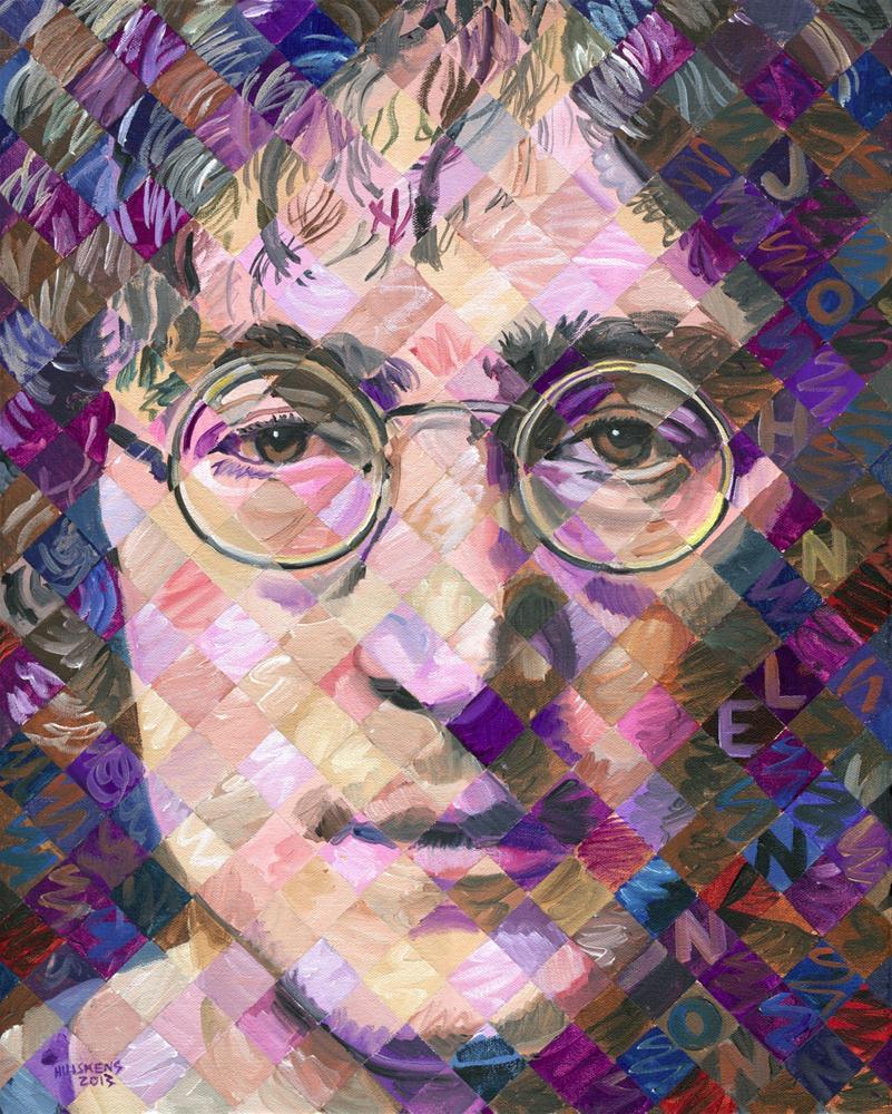 """""""John Lennon"""" original fine art by Randal Huiskens"""