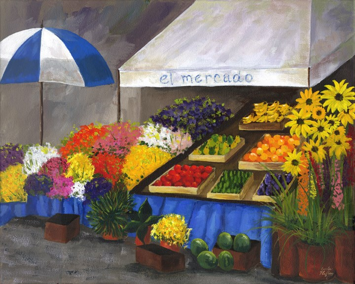 """el mercado"" original fine art by Carla Hefley"
