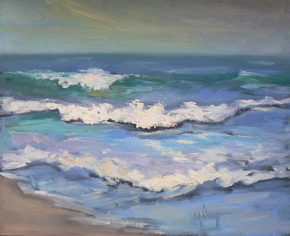 """Daily Painting, Atlantic Seascape, 8x10"" original fine art by Carol Schiff"