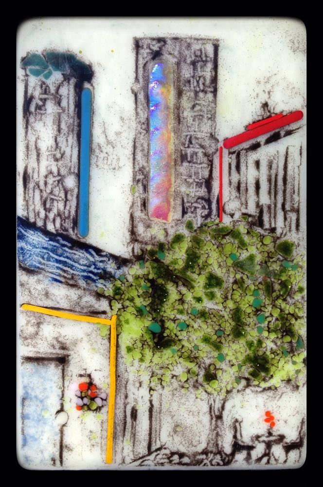 """Downtown café"" original fine art by Kris Alge"
