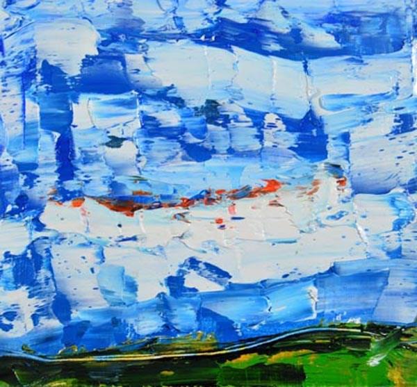 """""""Landscape 53"""" original fine art by Katie Jeanne Wood"""