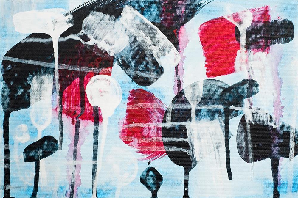 """Popcorn"" original fine art by Franziska Schwade"