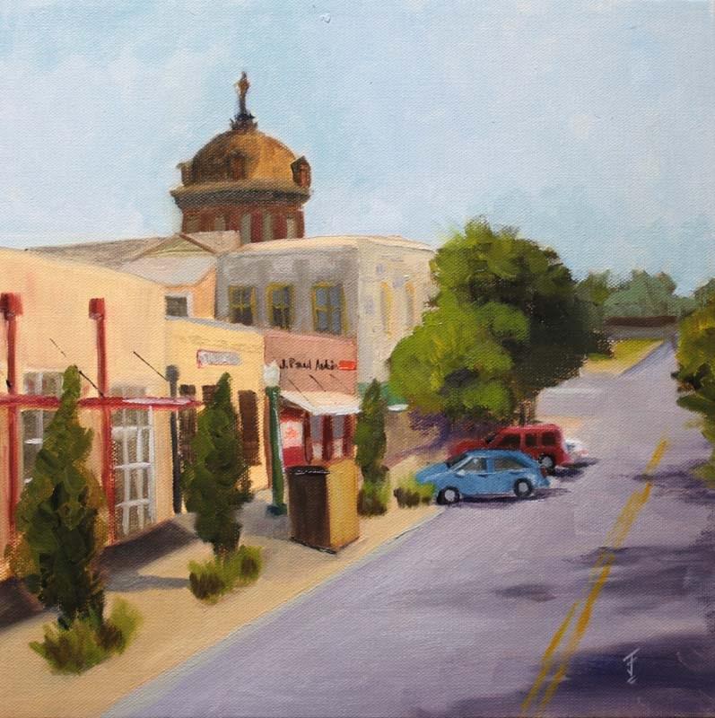"""Georgetown Texas View"" original fine art by Jane Frederick"