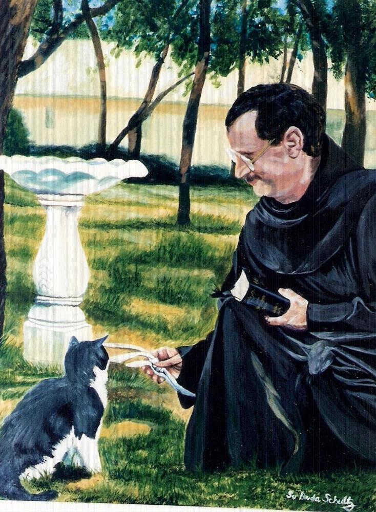 """In Francis's Footsteps"" original fine art by Susan Duda"