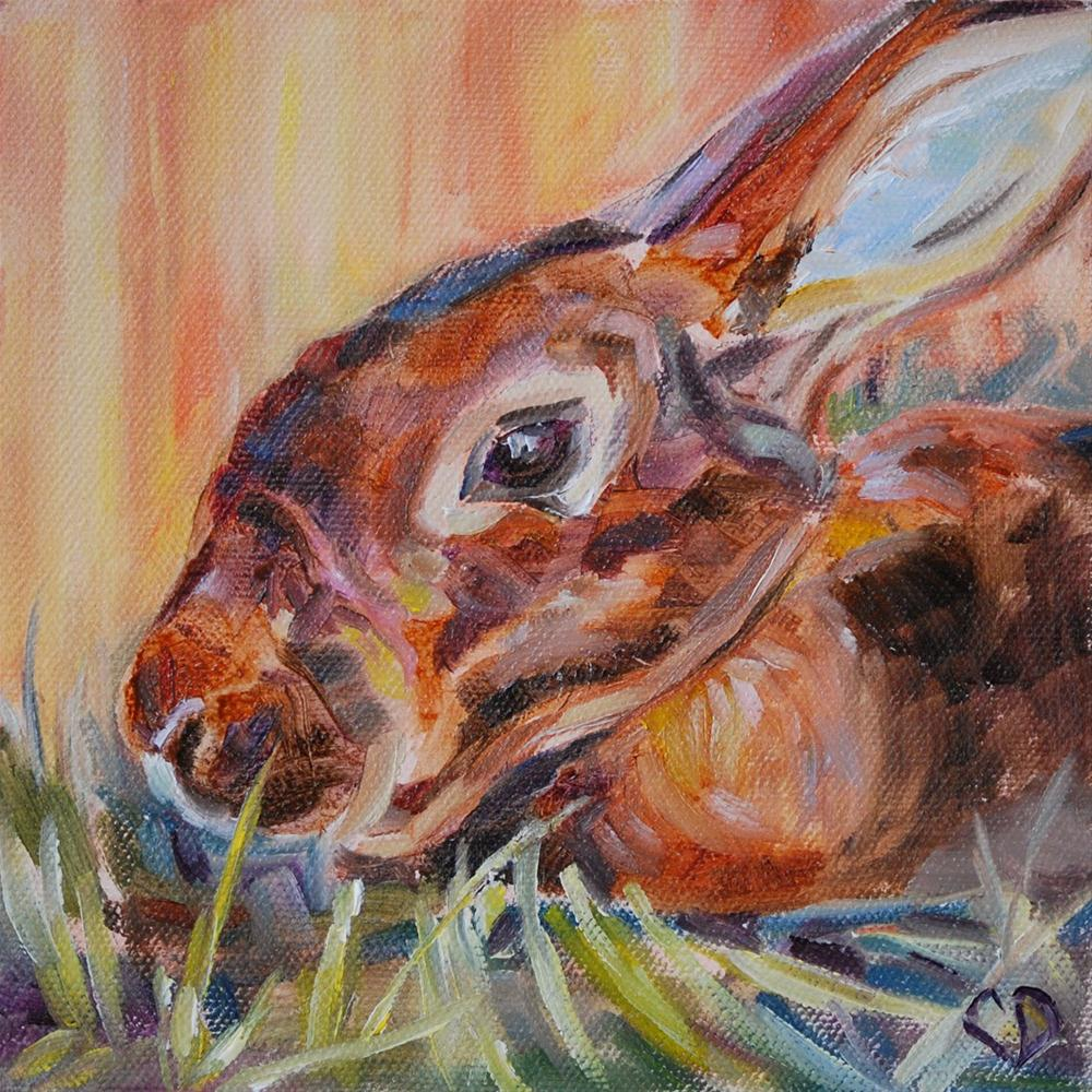 """Hippity-Hoppity"" original fine art by Carol DeMumbrum"