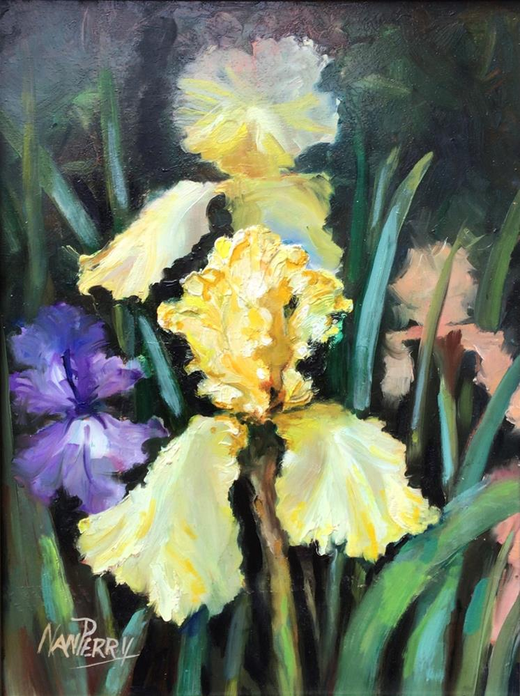 """For the Love of Iris"" original fine art by Nan Perry"