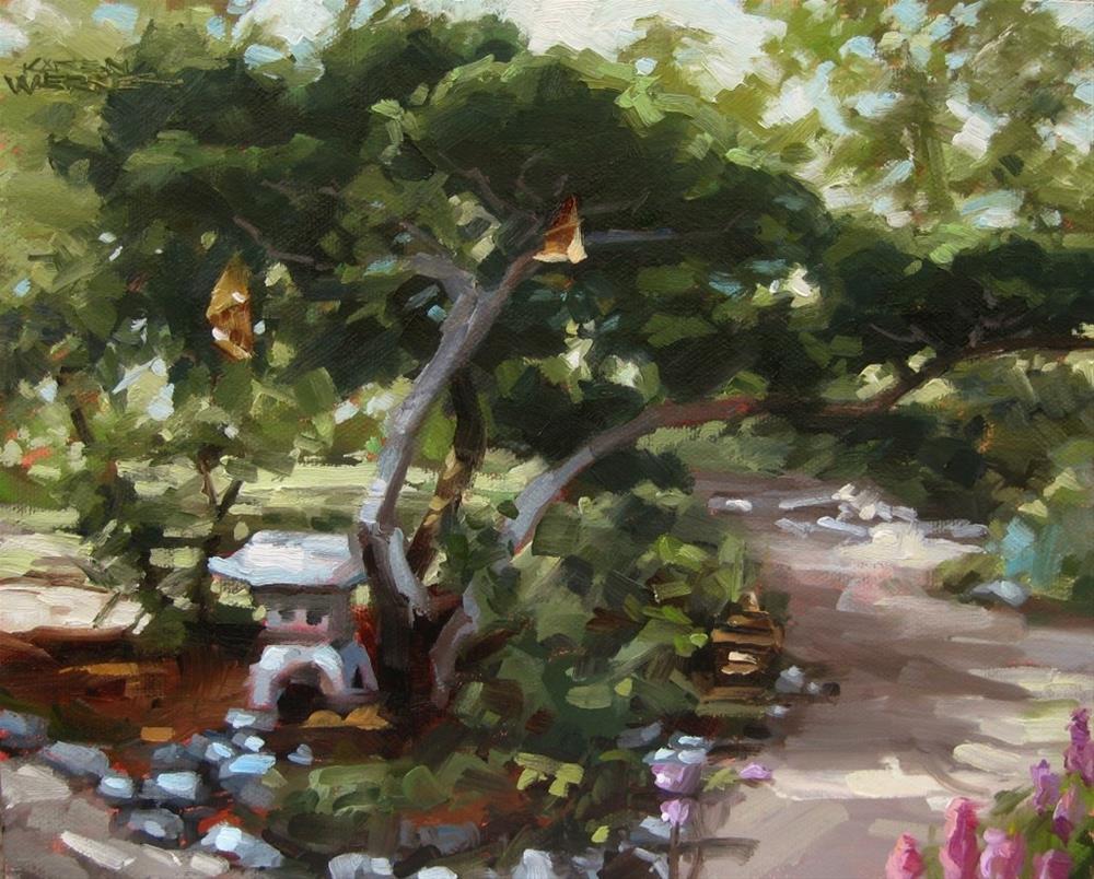 """""""Zen Garden"""" original fine art by Karen Werner"""
