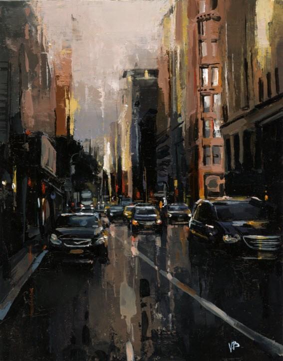 """""""broadway 3"""" original fine art by Victor Bauer"""