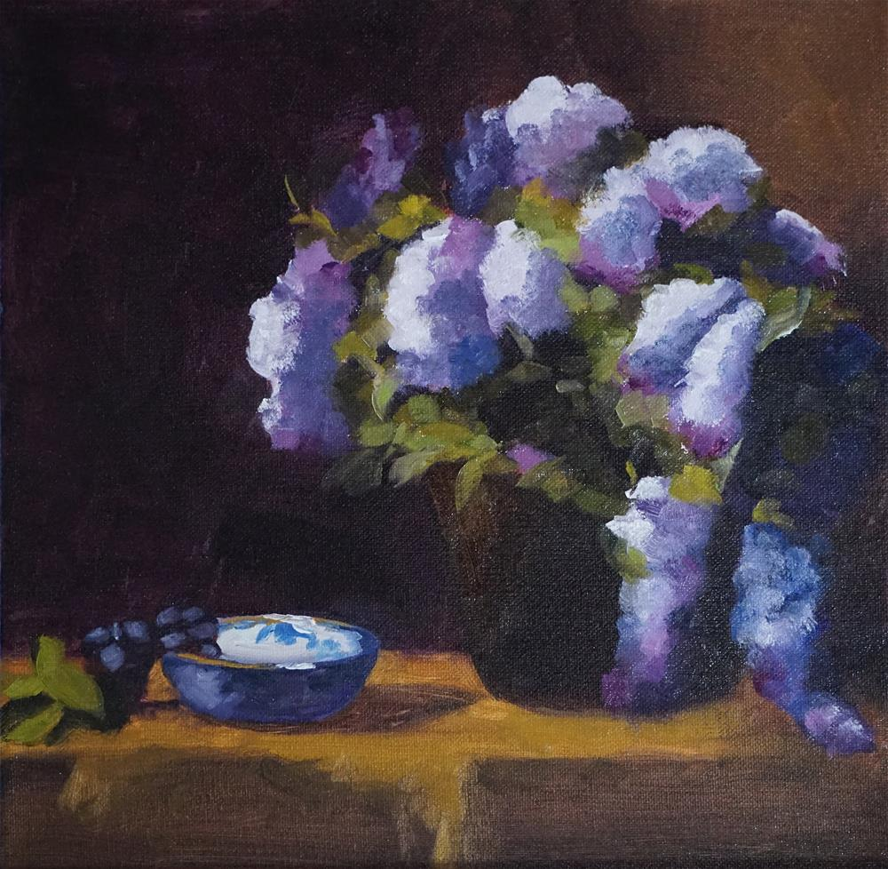 """Still Life with Lilacs"" original fine art by Catherine Van Berg"