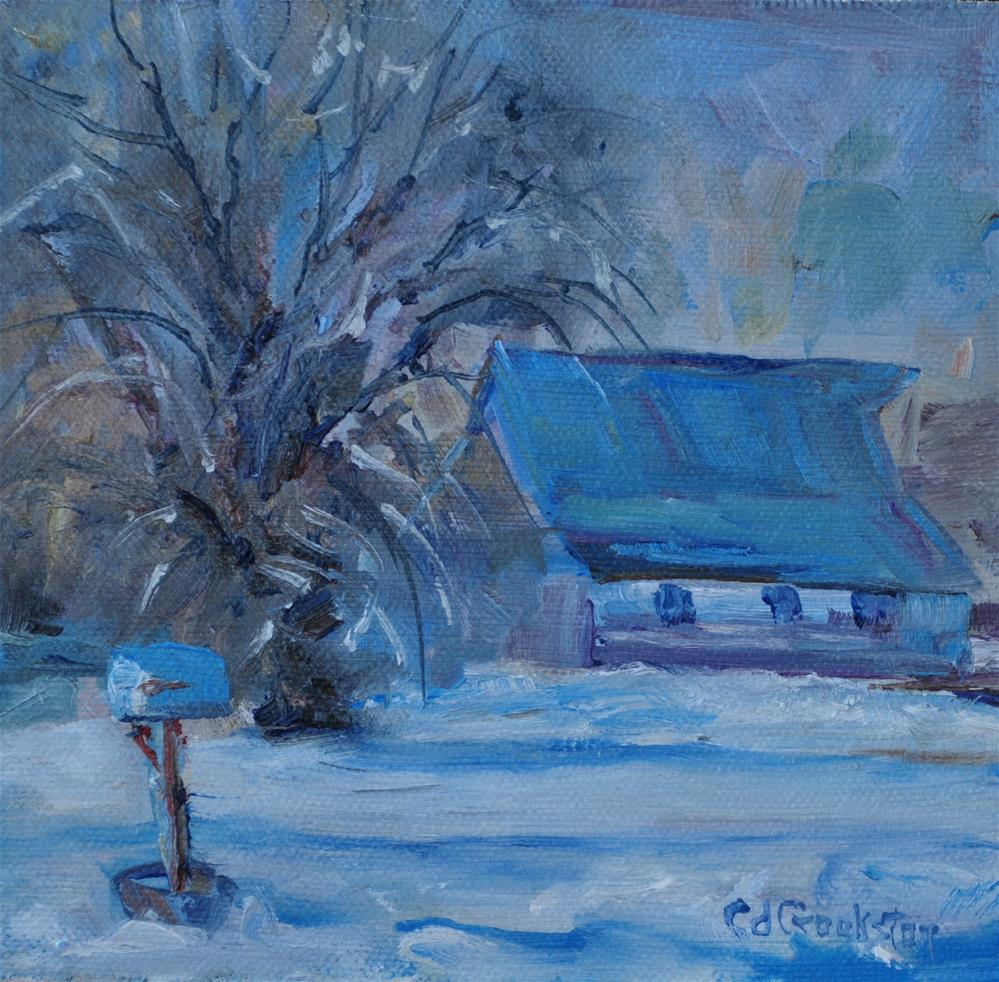 """Lowe Barn"" original fine art by Catherine Crookston"
