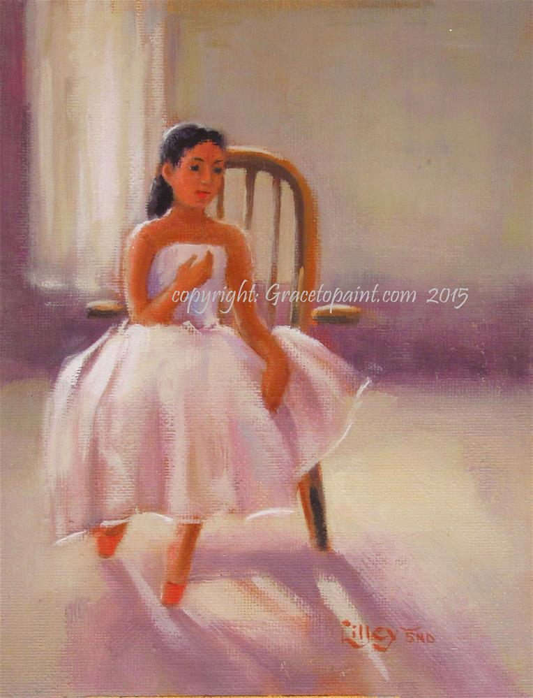 """Backstage"" original fine art by Maresa Lilley"