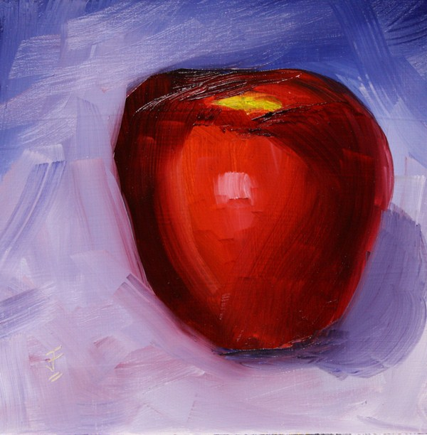 """Apple Challenge"" original fine art by Jane Frederick"