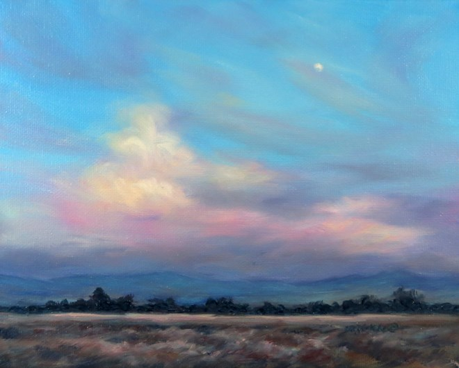 """Welcome Moon"" original fine art by Carol Zirkle"