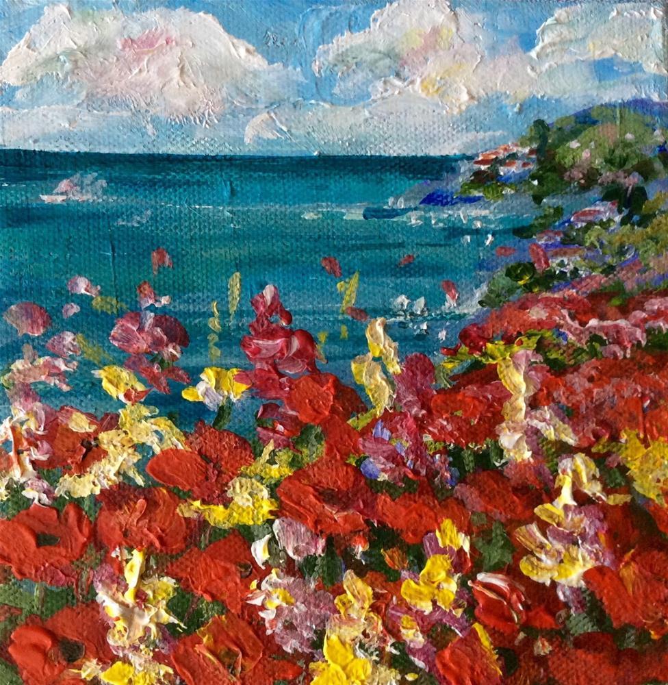 """South of France poppies"" original fine art by Sonia von Walter"