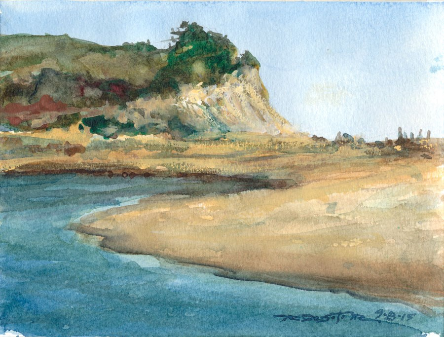 """San Gregorio Creek"" original fine art by Rafael DeSoto Jr."