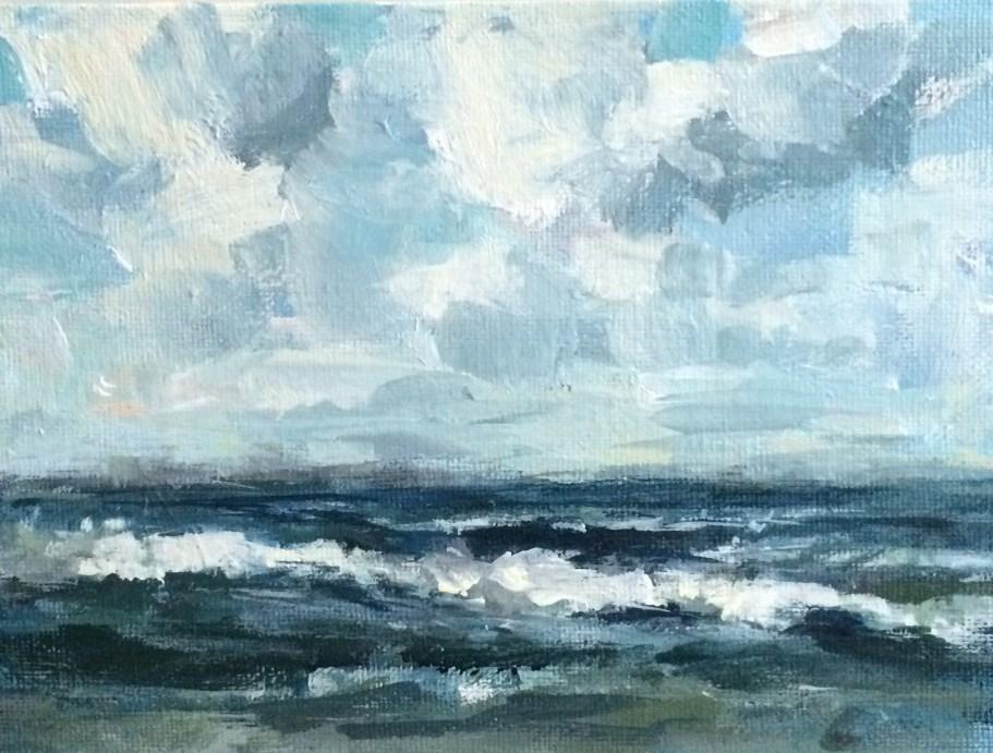 """Restless Sea"" original fine art by Shannon Bauer"