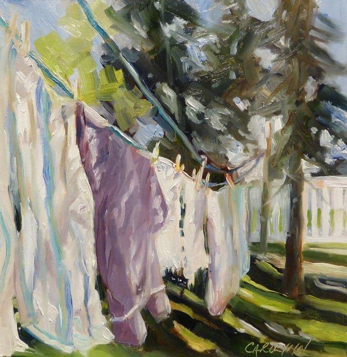 """""""Bright Sunshine"""" original fine art by Carolynn Doan"""