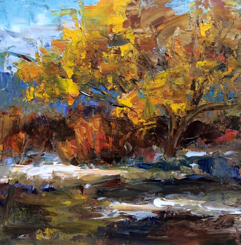 """Apache Autumn"" original fine art by Julie Ford Oliver"
