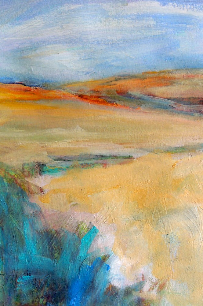 """Pale Fields"" original fine art by Mary Schiros"