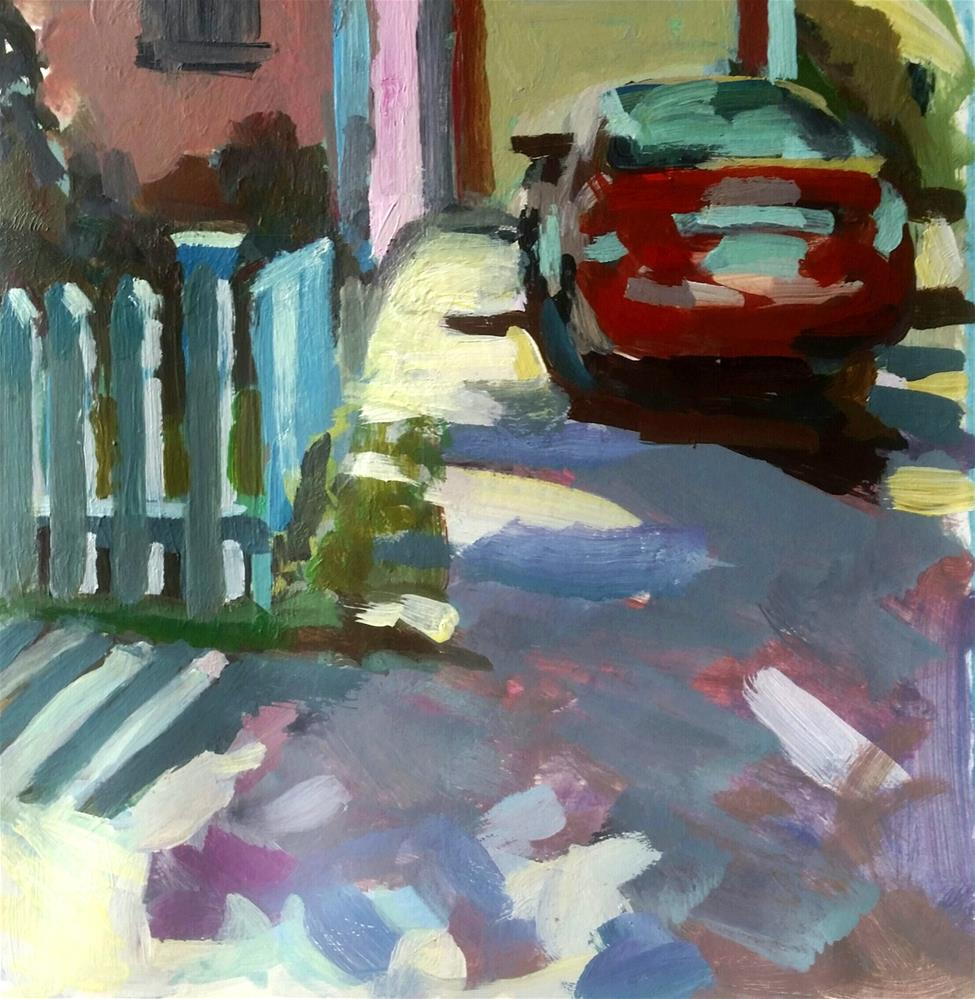 """Fence Challenge"" original fine art by Liz Maynes"