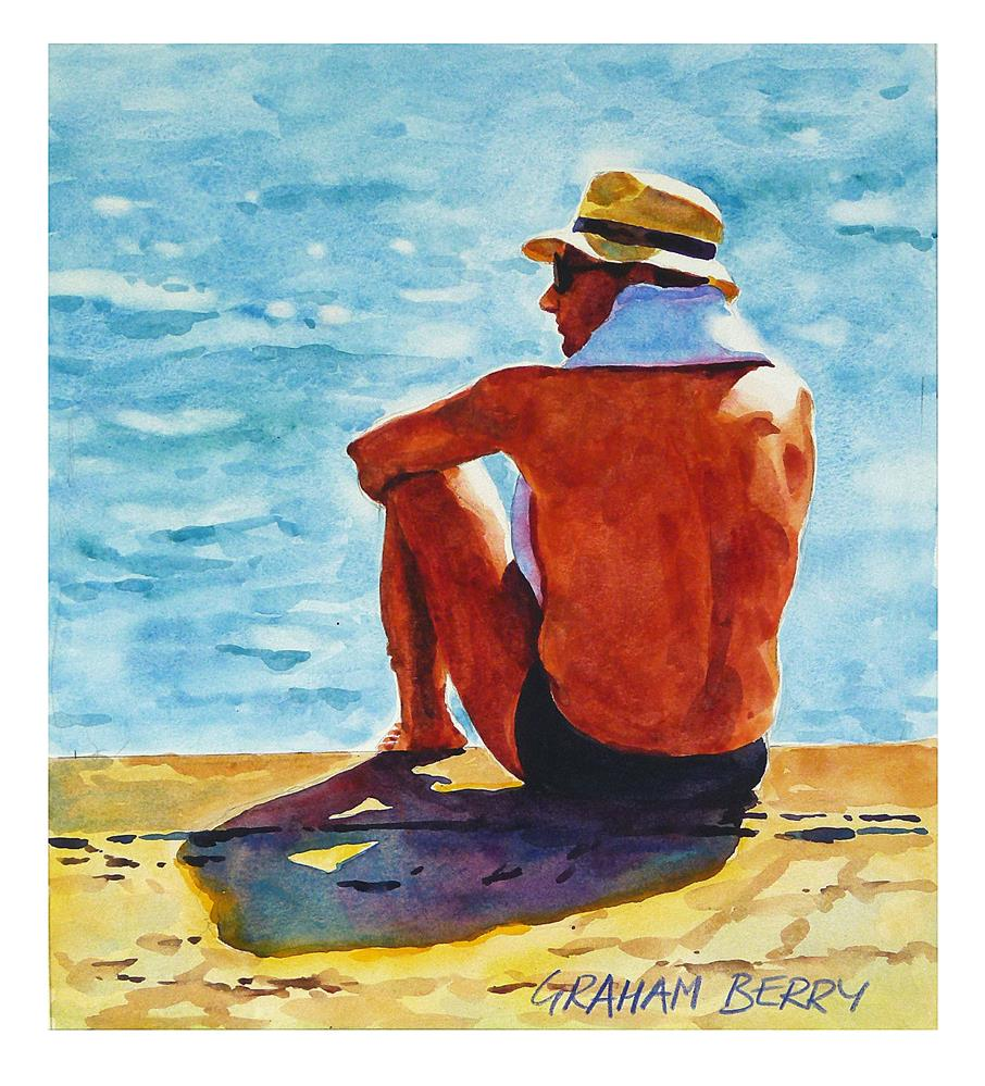 """Before the swim."" original fine art by Graham Berry"