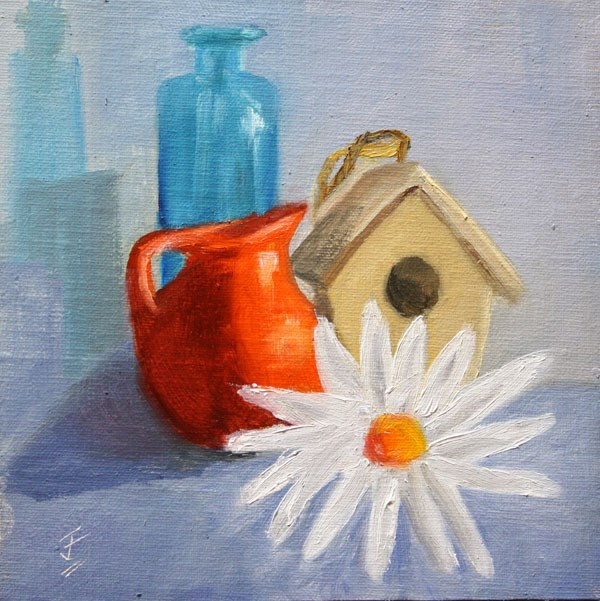 """Red, White and Blue"" original fine art by Jane Frederick"