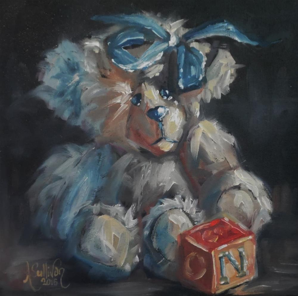 """Through The Years bear painting by Alabama Artist Angela Sullivan"" original fine art by Angela Sullivan"