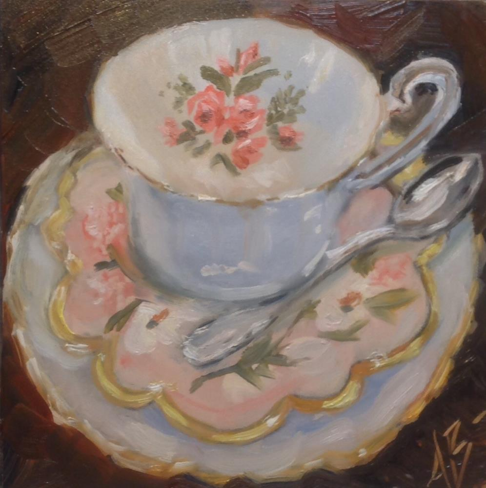 """Bone china cup"" original fine art by Annette Balesteri"
