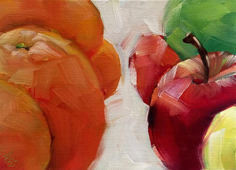 """Apples to Oranges"" original fine art by Bobbie Cook"