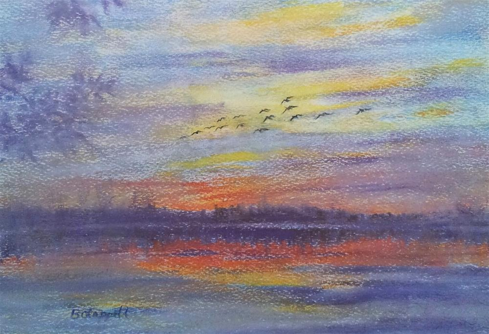 """Dawn Flight"" original fine art by Becky Chappell"