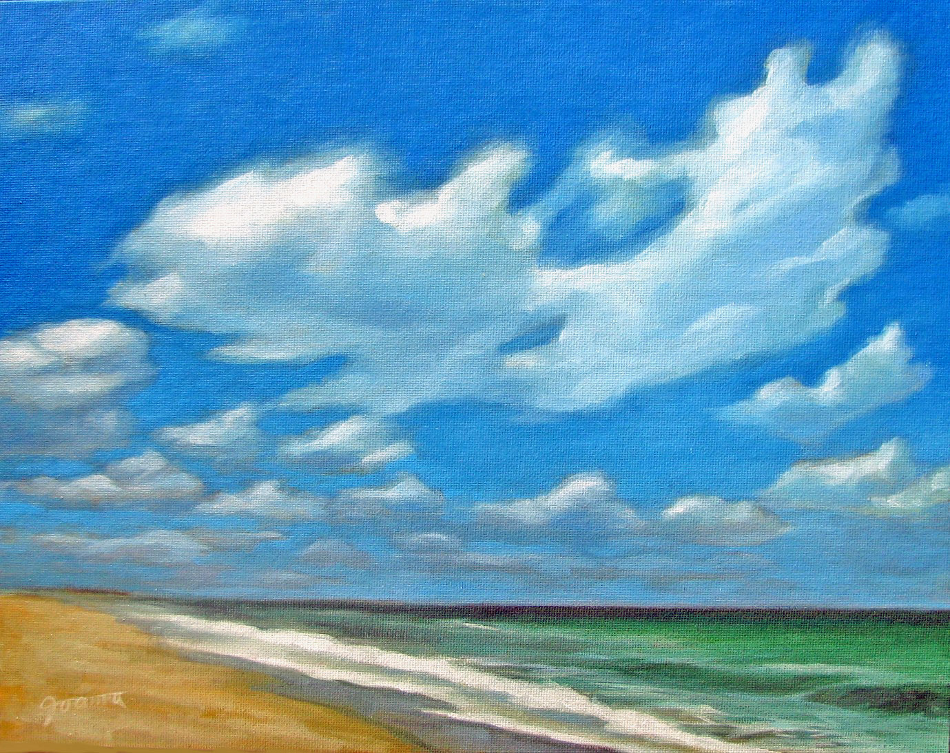 """Dramatic Clouds"" original fine art by Joanna Bingham"