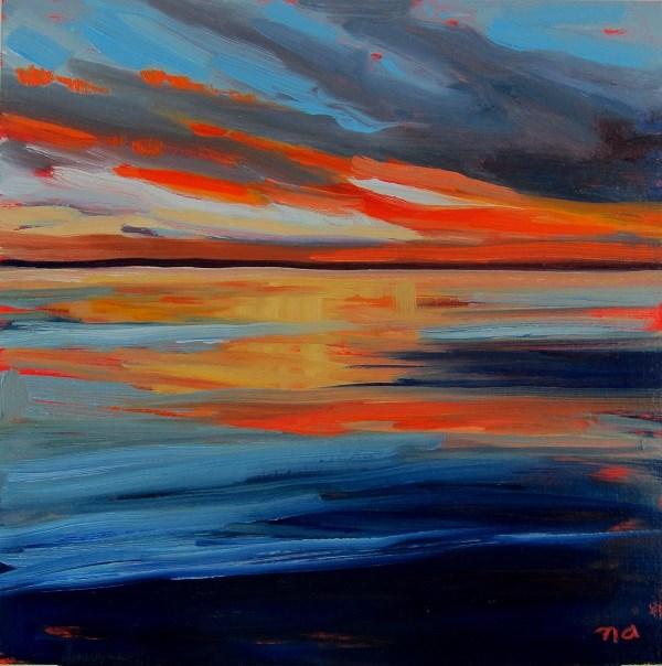 """Bold Sunset"" original fine art by Nicki Ault"