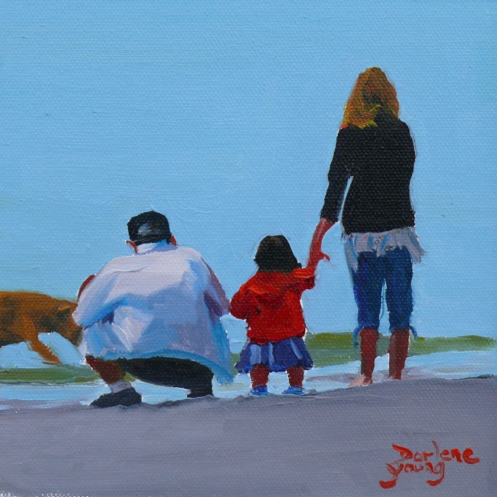 """Family"" original fine art by Darlene Young"