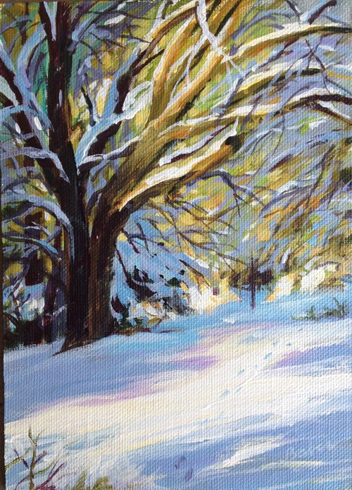 """Tehachapi Snow Light"" original fine art by gabriele baber"