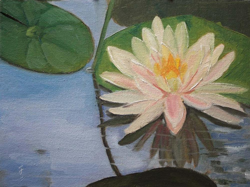 """Lily Reflection"" original fine art by Jane Frederick"