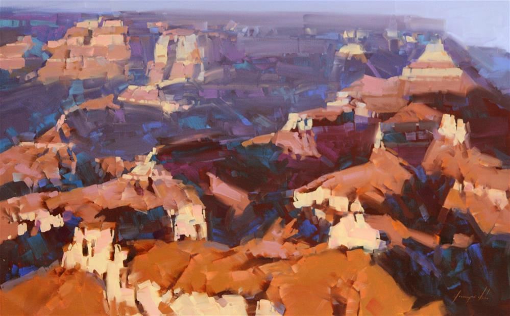"""Grand Canyon North Rim Original Large oil Painting"" original fine art by V Yeremyan"
