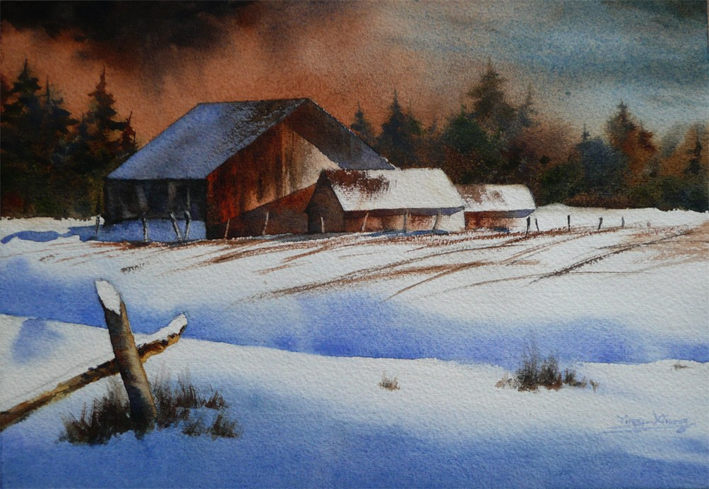 """Before the Spring Thaw"" original fine art by Arena Shawn"
