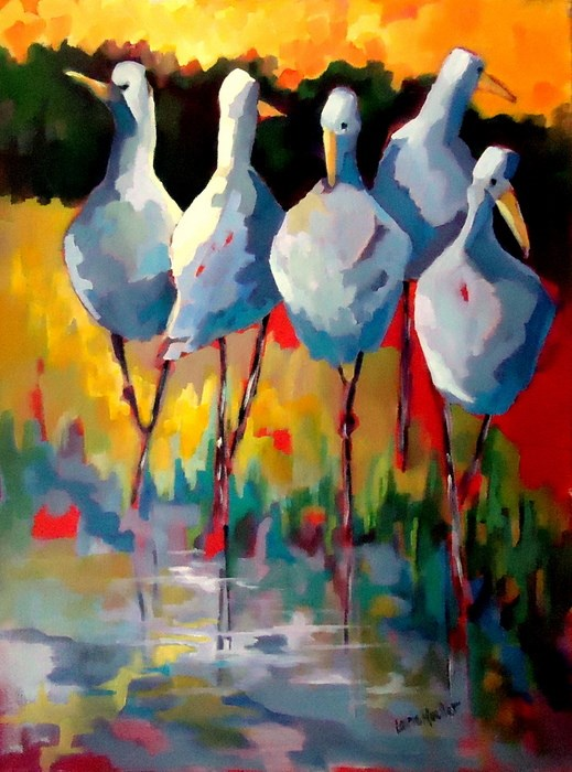 """Happy Hour"" original fine art by Laurie Mueller"