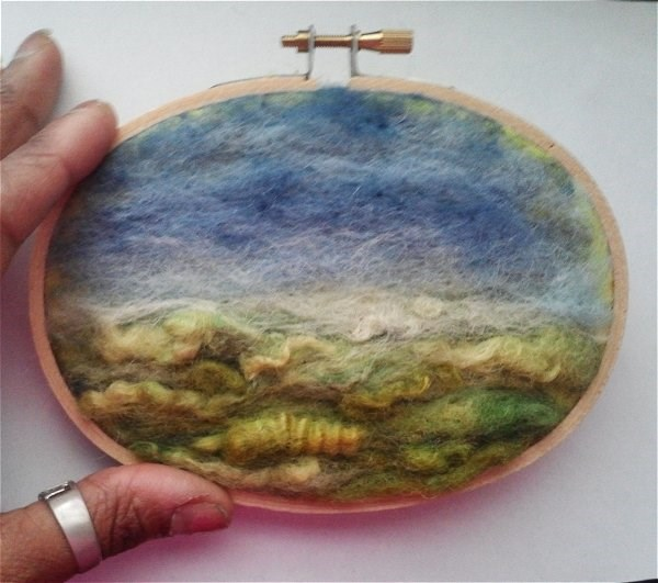 """Landscape Needle Felting"" original fine art by Camille Morgan"