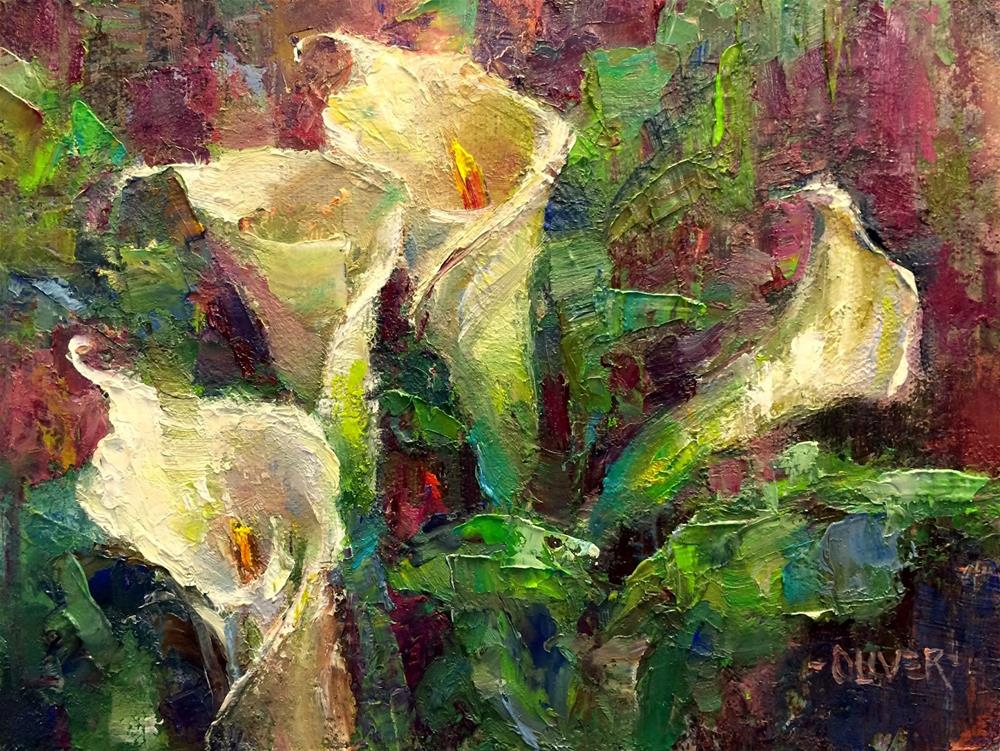 """Callas At Christmas"" original fine art by Julie Ford Oliver"