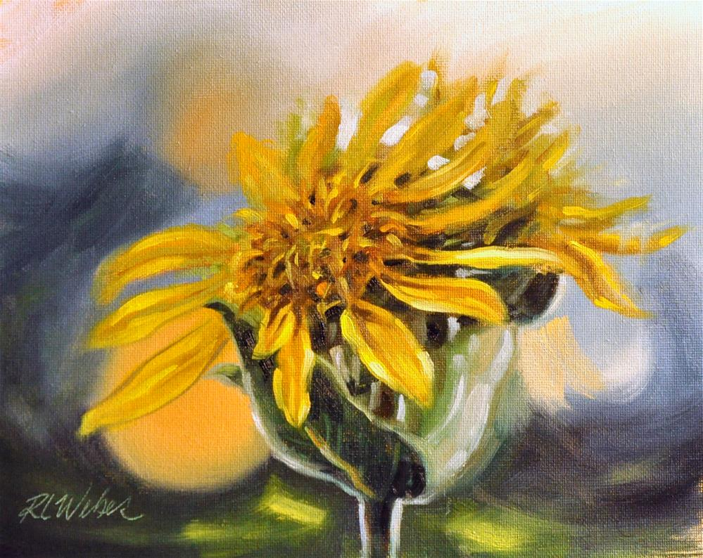 """Two Suns setting"" original fine art by Rl Weber"