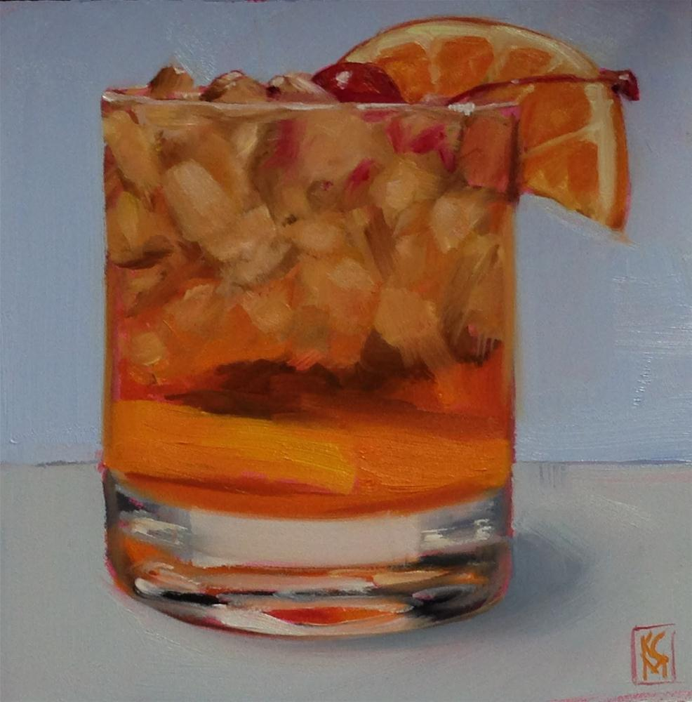 """Old Fashioned, 6c6 Inch Oil Painting by Kelley MacDonald"" original fine art by Kelley MacDonald"