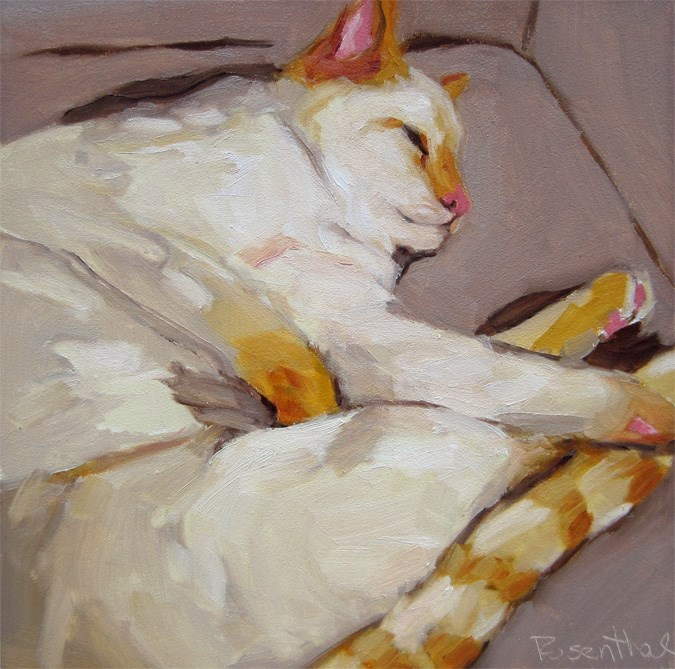 """Apricot Cat"" original fine art by Robin Rosenthal"