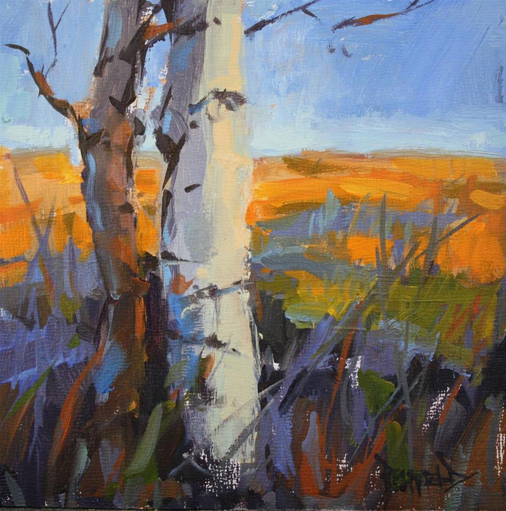 """Birches"" original fine art by Cathleen Rehfeld"