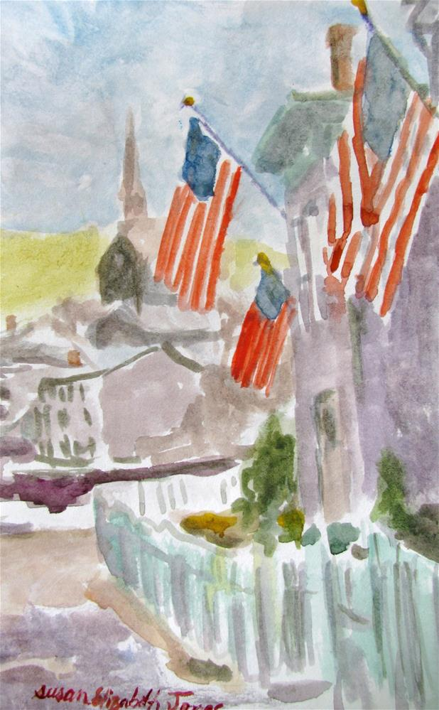 """Let Freedom Ring"" original fine art by Susan Elizabeth Jones"