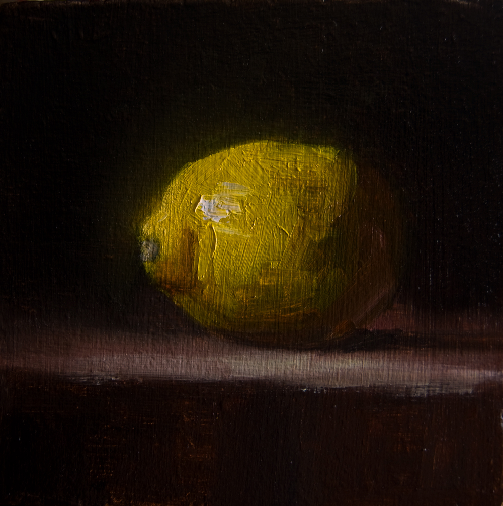 """Lemon No. 1"" original fine art by Neil Carroll"